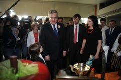 Präsidentenkampagne Bronislaw Komorowski Stockbild