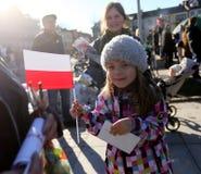 Präsidentenkampagne durch BronisÅ-'Aw Komorowski Lizenzfreies Stockfoto