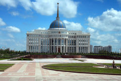 Präsidentenpalast in Astana Kasachstan Zentralasien lizenzfreies stockbild