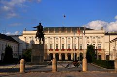 Präsidentenpalast in Warschau stockfotos