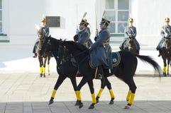 Präsidentenwachen auf Pferde Stockfotos