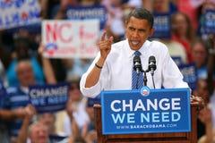 Präsidentschaftsanwärter, Barack Obama Stockbilder
