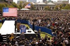 Präsidentschaftsanwärter Barack Obama Stockbild