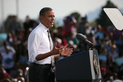 Präsidentschaftsanwärter Barack Obama Lizenzfreies Stockbild