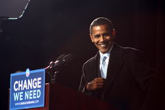 Präsidentschaftsanwärter Barack Obama Stockfotografie