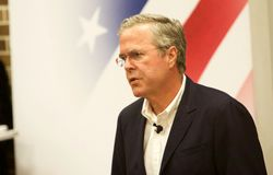 Präsidentschaftsanwärter Jeb Bush Stockbilder