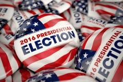 Präsidentschaftswahl-Knöpfe 2016 lizenzfreie stockbilder