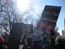 Präsidentschaftswahl, Stimmenmehrheit, Frauen ` s März, NYC, NY, USA Stockfotos