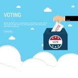 Präsidentschaftswahl-Tagesabstimmungs-Kasten Amerikaner Flag& x27; s symbolisches Ele Lizenzfreies Stockfoto