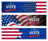 Präsidentschaftswahlfahnenhintergrund US-Präsidentschaftswahl 2020 stock abbildung