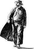 Präst av vilda västern Arkivbild