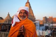 Präst i Jaipur Arkivbild