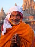 Präst i Jaipur Arkivfoton