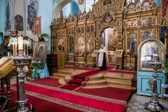 Präst inom av domkyrkan av den heliga Treenighet Royaltyfria Foton
