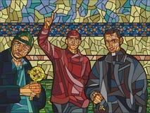 präster tre barn Royaltyfri Fotografi