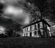 Prästgård i Tjeckien Arkivbild