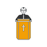 Prästlinje symbol stock illustrationer