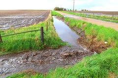 Prålig översvämning Arkivfoto