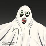 Prålig vit spökeallhelgonaaftonbakgrund Arkivbild