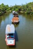 Pråmfartyg Fotografering för Bildbyråer