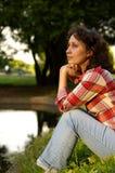 Près d'un lac Photographie stock libre de droits