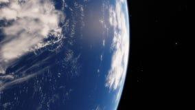 Près de l'espace, la terre, planète bleue Éléments de cette image meublés par la NASA illustration stock