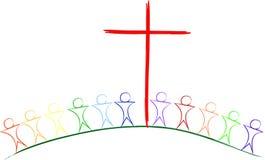 Près de la croix Photo libre de droits