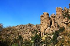 Près de la formation de tuyau d'organe en monument national de Chiricahua, l'Arizona photographie stock libre de droits