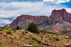 Près de Zion National Park, l'Utah image stock