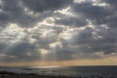 Pré ciel de coucher du soleil Photographie stock libre de droits