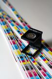 Pré-comprimez le menagement de couleur - impression de couleur de CMYK Photos libres de droits