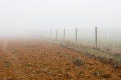 Pré dans le brouillard Image libre de droits