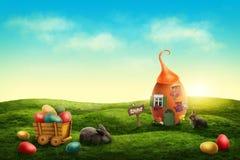 Pré de Pâques de ressort photos stock