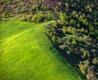 Pré et forêt Photographie stock libre de droits