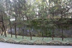 Pré et mur de temple de wuhouci, adobe RVB photo stock