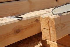 Pré-forma para a casa nova feita da madeira Fotos de Stock