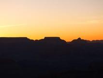 Pré-lever de soleil de gorge grande photographie stock libre de droits