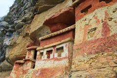 Pré mausolée Revash d'Inca dans les montagnes du Pérou du nord Photo libre de droits