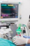 Pré oxygénation pour l'anesthésie générale photographie stock