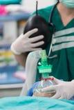 Pré oxygénation pour l'anesthésie générale Images stock