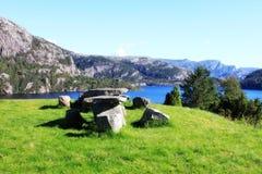Pré vert en Norvège Photographie stock