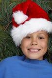 préadolescent s Santa de chapeau de fille Photographie stock libre de droits