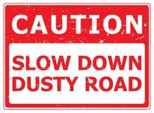 Précaution Dusty Road illustration libre de droits