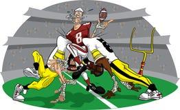 Précipitation dans le jeu #10 de football américain Photo libre de droits