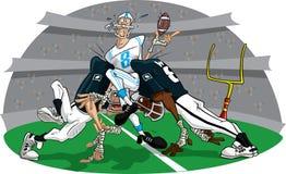 Précipitation dans le jeu #8 de football américain Images libres de droits