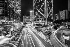 Précipitation de nuit de Hong Kong Photo stock
