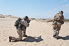 Précipitation de soldat Image stock