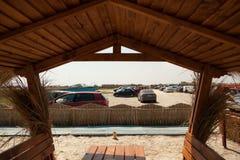Précipitation de terrasse dans Vadu Photo libre de droits