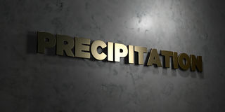 Précipitation - texte d'or sur le fond noir - photo courante gratuite de redevance rendue par 3D Images stock