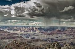 Précipitations sur le canyon Images stock